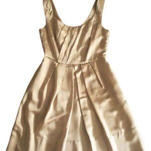 Banana Republic gold silk party dress w/pockets 10